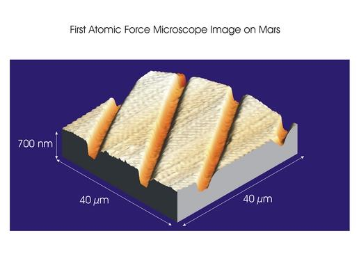 First Atomic Force Microscope Image from Mars