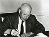 President Eisenhower signs the bill to create NASA