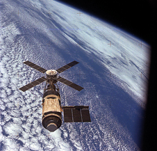 Research outpost - The Skylab space station, occupied by three astronaut teams in 1973-1974, enabled the first human study of solar phenomenon from space.