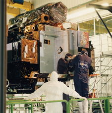 Coming up on sweet 13 - The SOHO spacecraft, undergoing final inspection in 1995, is approaching its 13th year of operations.