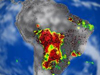 Map of South America fire data