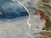 Visualization of California fires