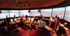 FutureFlight Central - Opened Dec. 13, 1999, at the Ames Research Center, the world's first full-scale virtual airport control tower helps airlines and airports improve the public's flying experience.