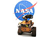 Disney/Pixar's Wall-E zooms past the NASA logo