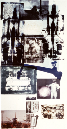 Hot Shot - Lithograph by Robert Rauschenberg. This work was created to share and express the artist's belief in the spiritual and physical improvement of life and the mind through curiosity.