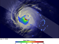 TRIMM image of Hurricane Elida