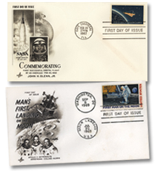 Stamp of approval - Stamps with special covers and day of launch-moon landing cancellations commemorating two epic events in space history.