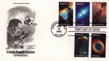 Worthy images - Stamps using images obtained by the Hubble Space Telescope were used for this series on astronomy.