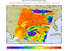 AIRS image of Dolly in the Gulf of Mexico