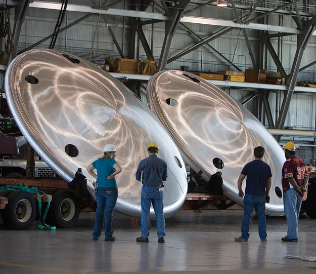Moving forward - Work at the Langley Research Center on heat shield fabrication and vehicle integration for NASA's next generation of spacecraft. Photo credit-NASA/Sean Smith