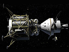 Artist's version of the Altair docked with Orion