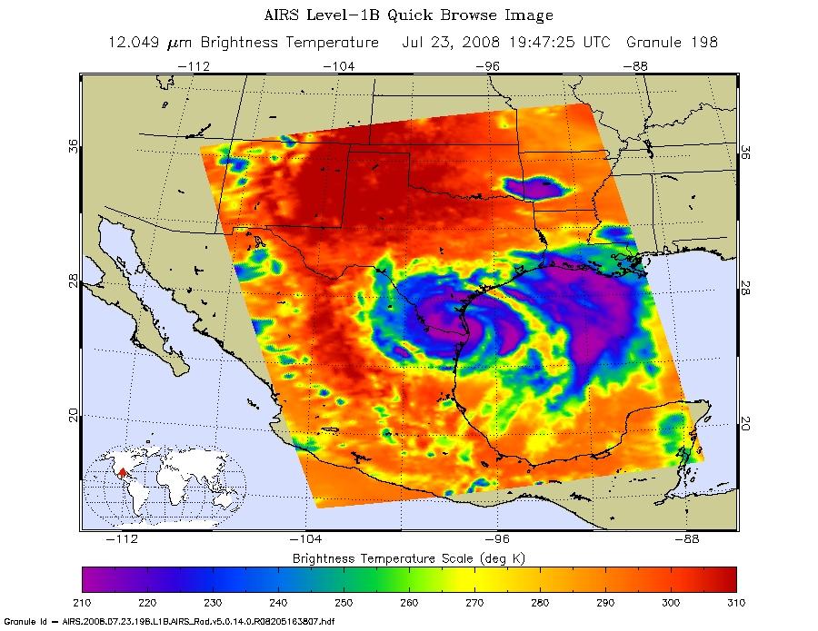 NASA Hurricane Season Dolly Atlantic Ocean - Weather brownsville tx