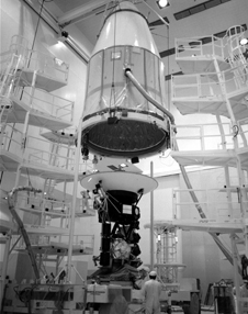 Ready for the voyage - Technicians work on the Voyager 1 spacecraft prior to its launch to the outer planets in 1977.