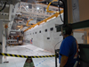 payload bay doors on space shuttle Atlantis are closed