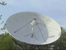 Large satellite dish
