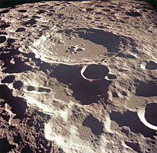 A crater on the moon