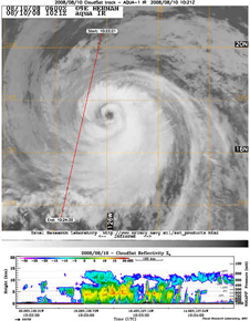Satellite image of Hurricane Hernan