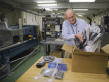 NASA engineer Steve Wilkinson in the lab
