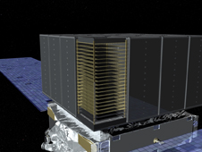 Artist concept of the LAT instrument on GLAST