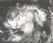Cloudsat image of Nuri on August 20, 2008