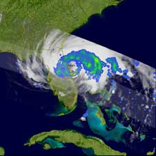 TRMM image of Fay on Aug. 21, 2008