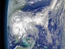 SeaWiFS captured this spectacular image of Tropical Storm Fay and the eastern U.S. on August 20, 2008.