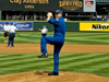 Astronaut Clay Anderson throws first pitch