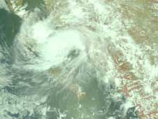 AIRS image of Julio on Aug. 26, 2008