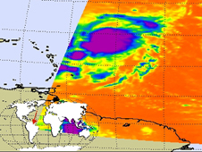 AIRS image of Tropical Storm Hanna northeast of the northern Leeward Islands