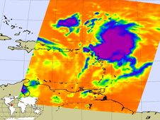 AIRS image of Tropical Storm Hanna as it moves away from the Leeward Islands