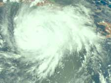 AIRS image of Gustav on August 30, 2008