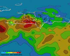TRMM perspective on Gustav over Haiti from Aug. 22 to Aug. 29, 2008