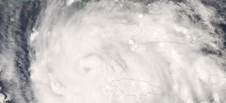 Satellite image of Gustav