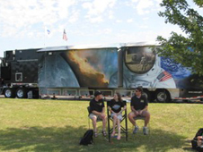 NASA Edge in front of the trailer
