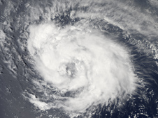 Satellite image of Ike