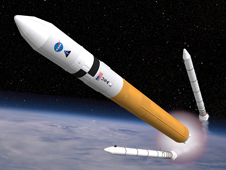 Ares V Cargo Launch Vehicle in orbit