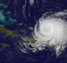 GOES image of Ike from Sept. 6, 2008