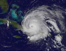 GOES image of Ike on Sept. 7, 2008