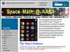 A screenshot of the Space Math @ NASA site