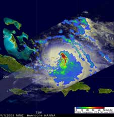 TRMM image of Hanna on Sept. 1, 2008
