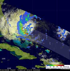 TRMM image of Hanna on Sept. 4, 2008