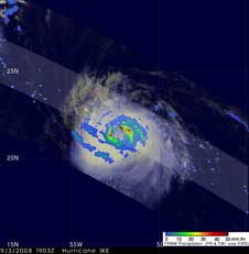 TRMM image of Ike on Sept. 3, 2008