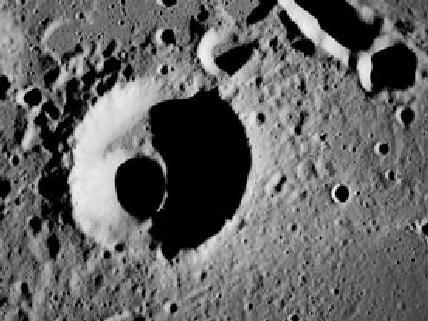 Lunar Crater - Apollo 8