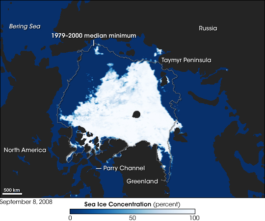 Visualization of arctic sea ice