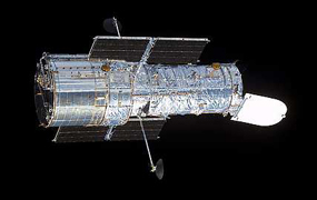 Hubble after its last servicing mission in March 2002
