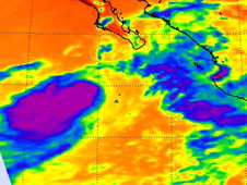 AIRS image of Lowell near Baja, California