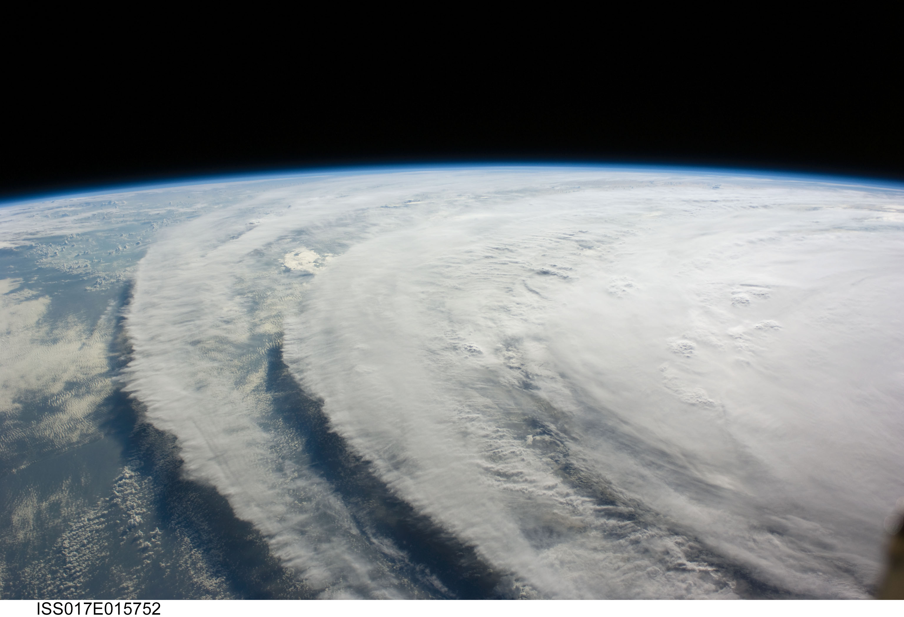 NASA - View of Hurricane Ike From Space Station