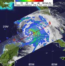 TRMM image of Ike from Sept. 11, 2008