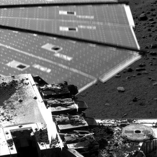 Solar Panel Buffeted by Wind at Phoenix Site