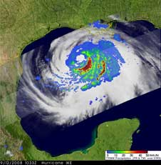 TRMM image of Ike from Sept. 12, 2008